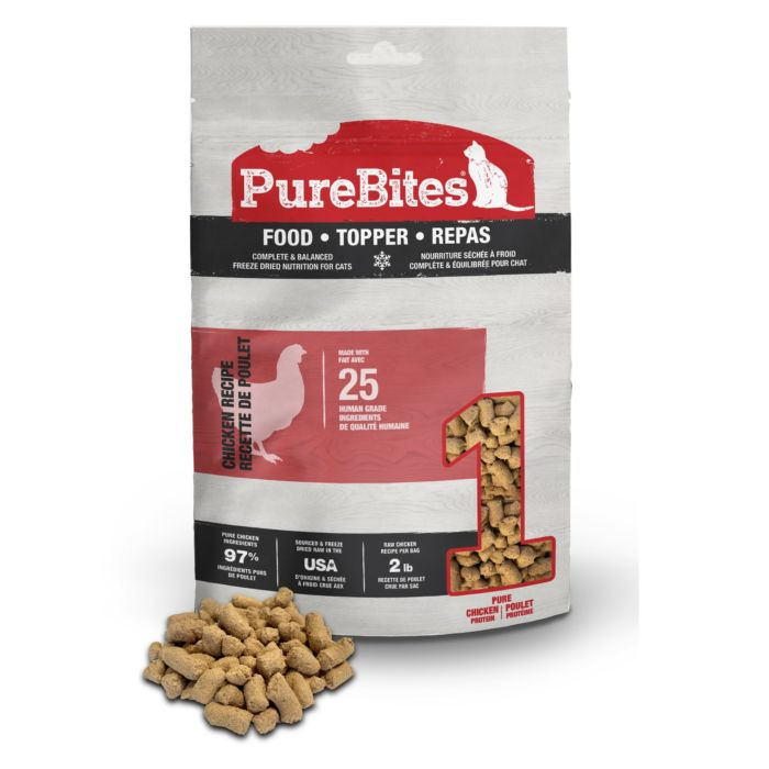 Front Shot Bag With Pile Food Topper Freeze Dried Chicken Recipe For Cats