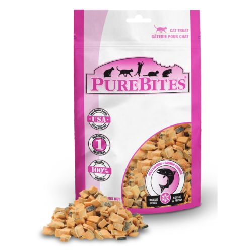 Front Shot Bag With Pile Freeze Dried Salmon Cat Treats