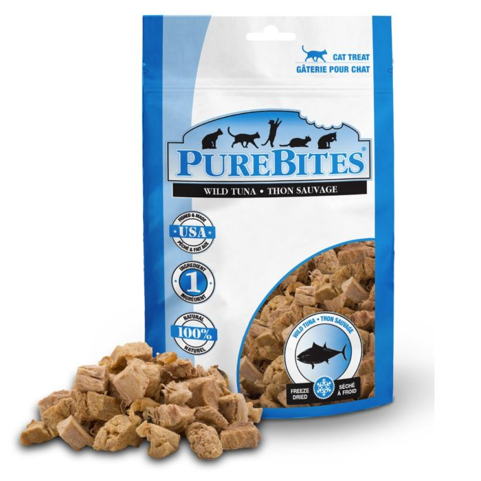 Front Shot Bag With Pile Freeze Dried Tuna Cat Treats