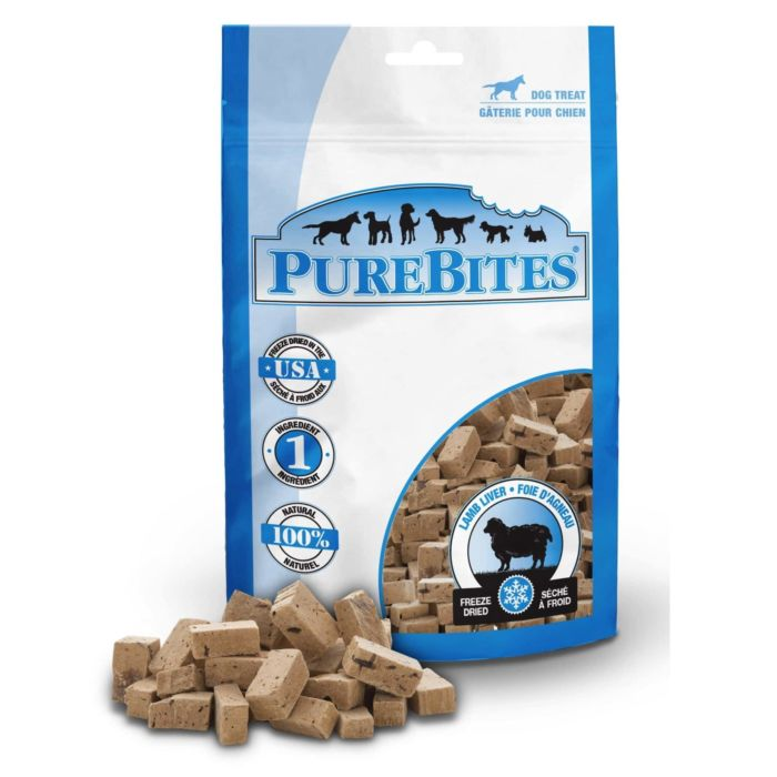 Front Shot Bag With Pile Freeze Dried Lamb Liver Dog Treats